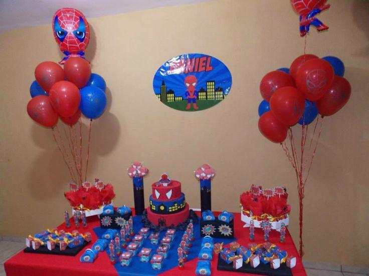 Tema Homem Aranha baby Idéias para festa infantil Pinterest Babies -> Decoração De Festa Simples Homem Aranha