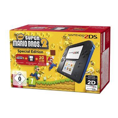 Nintendo 2DS  New Super Mario Bros. 2 - zwart/blauw  Speel de leuke platformgame New Super Mario Bros. 2 op de Nintendo 2DS. De game staat al vooreïnstalleerd op de Nintendo 2DS.  EUR 99.00  Meer informatie