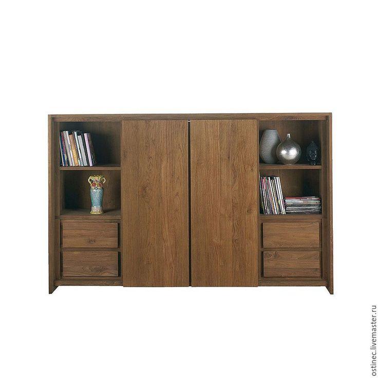 Купить Тумба шкаф стенка для TV телевизора с ящиками - коричневый, подставка для телевизора, tv тумба
