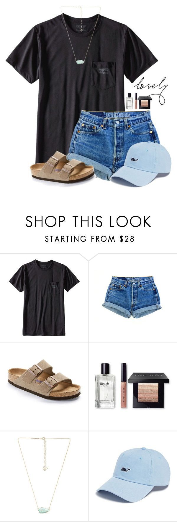 """~l o v e l y~"" by victoriaann34 ❤ liked on Polyvore featuring Patagonia, Birkenstock, Bobbi Brown Cosmetics, Kendra Scott and Vineyard Vines"