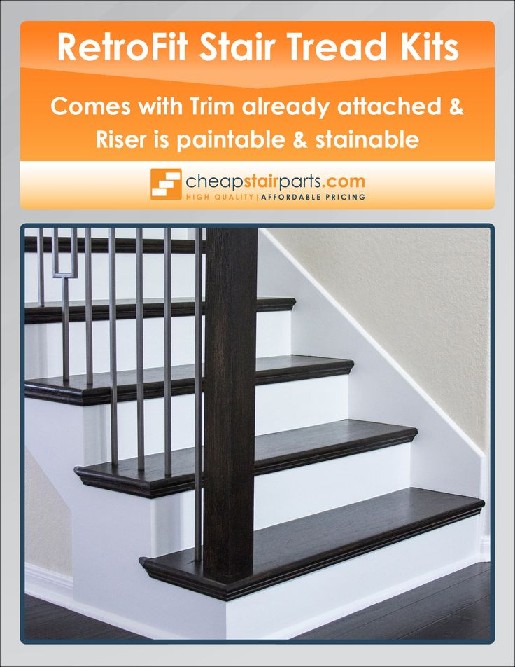 Our Retrofit Stair Tread And Riser Kits Come With Trim Attached. The Riser  Is Also
