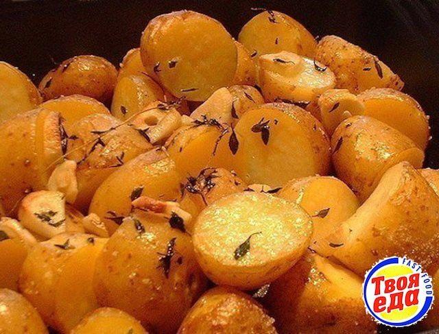 Запеченый картофель в рукаве