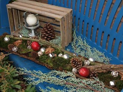 blaue bank ganz weihnachtlich advent pinterest deko weihnachten weihnachtsdekoration und. Black Bedroom Furniture Sets. Home Design Ideas