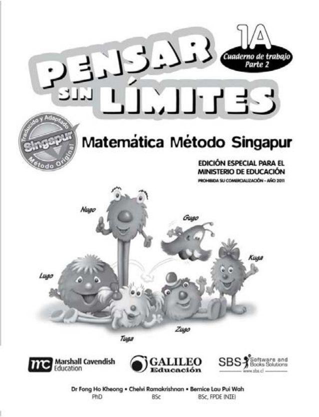 Cuaderno Trabajo 1 A Parte 2 Singapur Matemáticas Método Singapur Libros De Matemáticas Matematicas