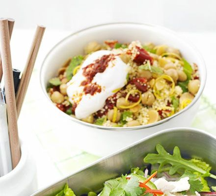 This can be made as a main-dish salad (great for lunchboxes) or as a side dish for roast lamb