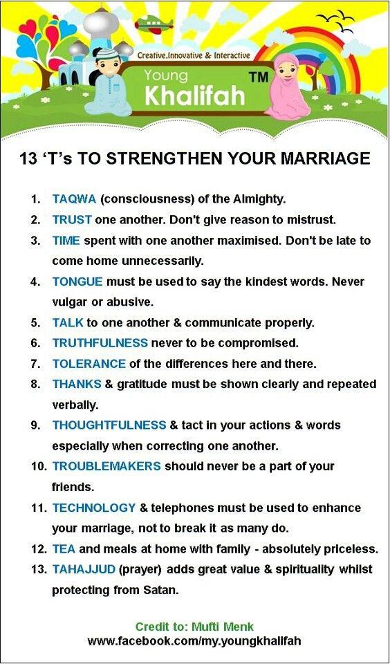 Strengthen ur marriage