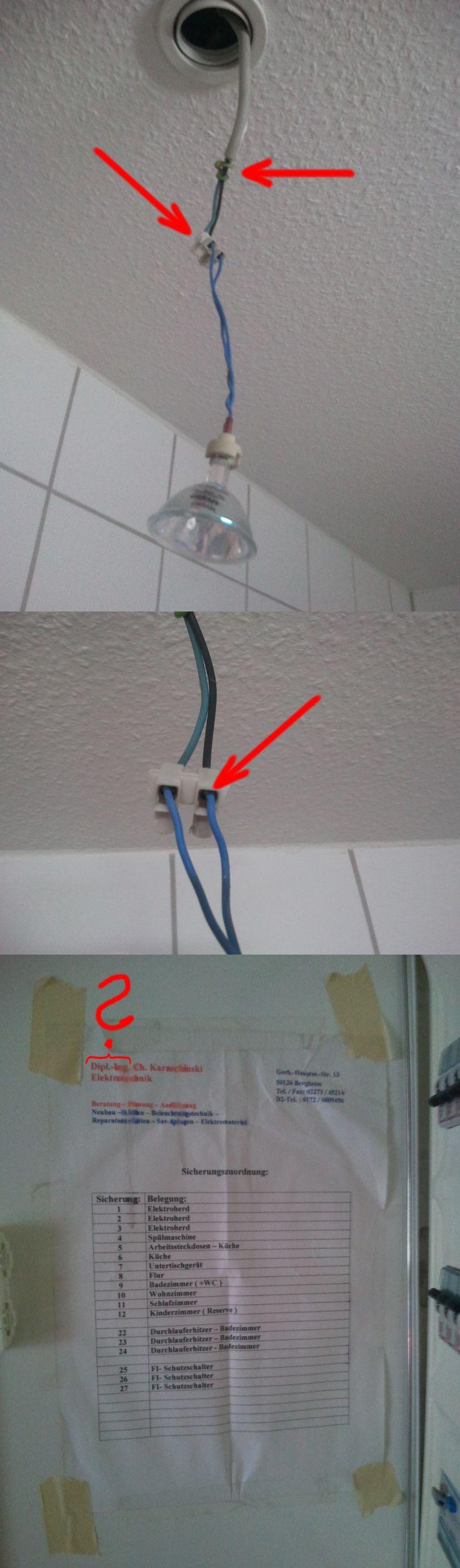 Wer hat hier gemurxt? Darf man einen Schutzleiter so verlegen? Darf man flexible Adern ohne Aderendhülsen anklemmen? Warum sollte man es TUNLICHST vermeiden, daß sich die Aderisolierung unsachgemäß in der Klemmstelle IM KLEMMBEREICH befindet? Ungünstig in dem Zusammenhang, daß weder im Badezimmer noch auf dem Dachboden Rauchmelder angebracht sind!!! EDIT: Den Backofen-Hitzeschutz habe ich nachträglich angebracht! Neff Lampen- u. Lüftungsabdeckungen mit Siedewasser GEREINIGT, Spiral-ESL…