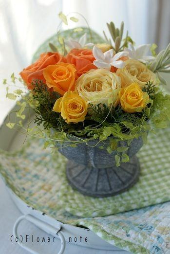 『【結婚祝】「Hey和」なフラワーアレンジ』 http://ameblo.jp/flower-note/entry-11139937427.html