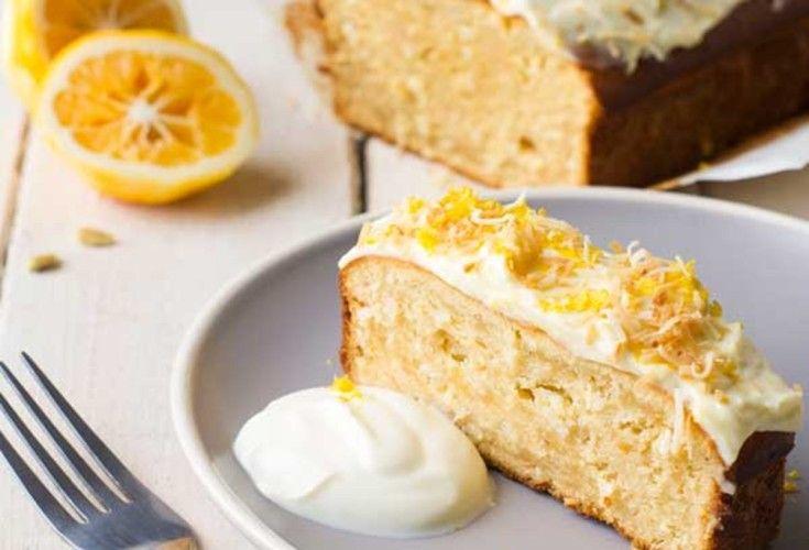 Lemon, Golden Syrup and Coconut Loaf | Nadia Lim