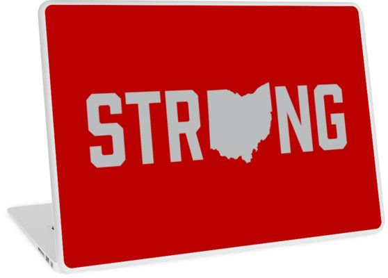 Ohio State Strong Laptop Sticker Decal - Ohio has always been known for its midwestern values, humility and competitiveness. This is why we made Ohio Strong. It reminds us where we come from no matter where we are in the world. Show your home state pride with Ohio Strong. Home is where the heart is. #ohio #ohiostate #state #columbus #cleveland #cincinnati #dayton #running #fitness #exercise #buckeyes #gobucks #crossfit #fitmom #fitchick #laptop #stickers #lifting
