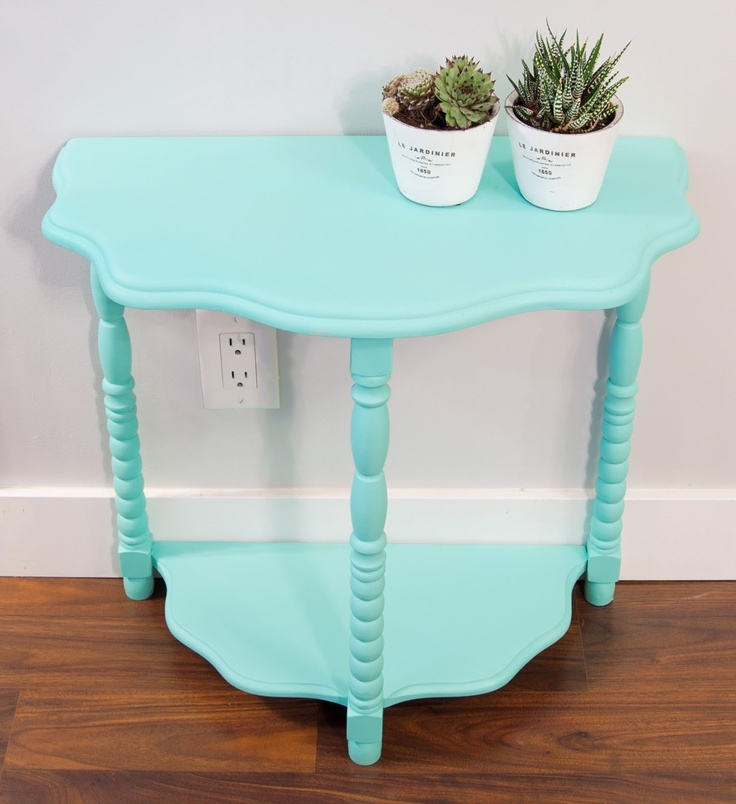 Enough To Spray Paint This Vintage Half Table While