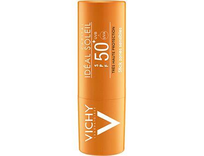 IDEAL SOLEIL Solstift SPF 50+ til udsatte områder - Vichy: En komplet serie med ansigtspleje, antiage-pleje, kropspleje, solbeskyttelse og hårpleje
