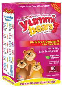 Yummi Bears Fish Free Omega 3 With Chia Seed by Hero Nutritionals. Ares used to take these