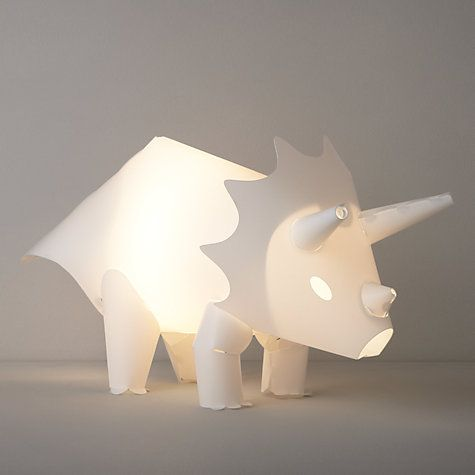 (Brilliant fun for a dino-mad child, this unique lamp is made from polypropylene and acts as a low nightlight. (little home at John Lewis Dino Was Here Table Lamp)