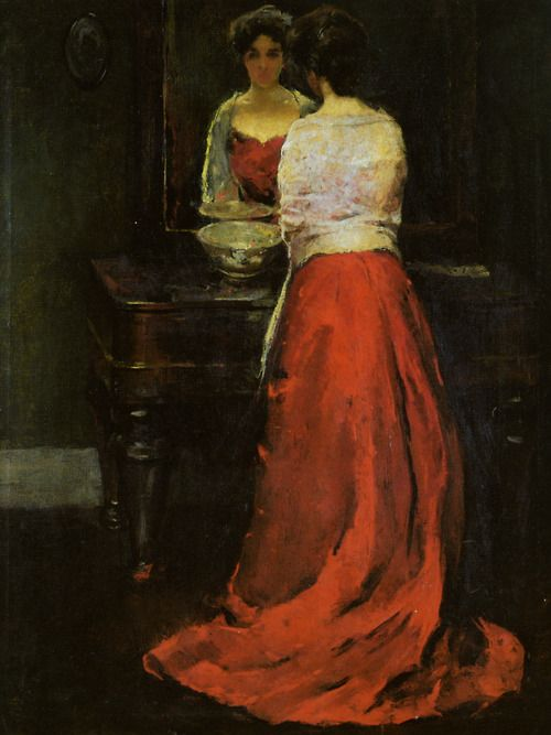 Lady in Red - Charles Webster Hawthorne