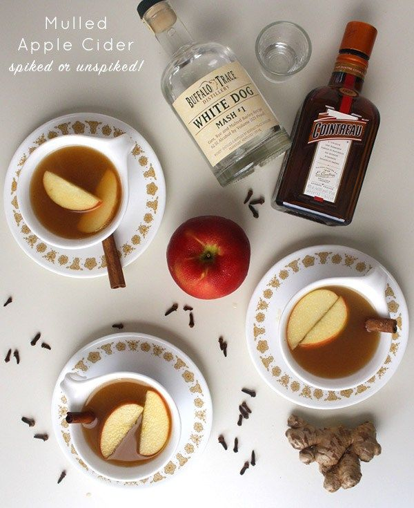 A warm mug of apple cider is lovely on its own or with a littleadded kick. Your choice!