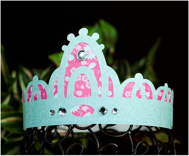Princess Crown uses Cricut Once Upon A Princess Cartridge
