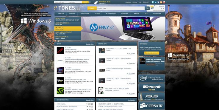 Windows 8 skin for Tones.be.