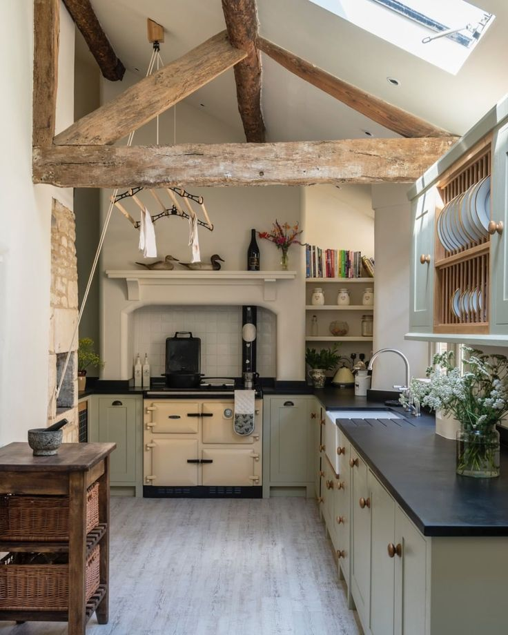 The kitchen of a recently completed project in a b…