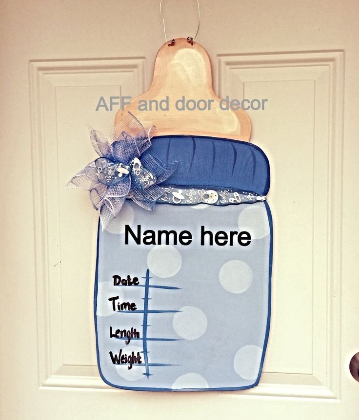 25 best ideas about baby bottle decorations on pinterest for Baby boy door decoration