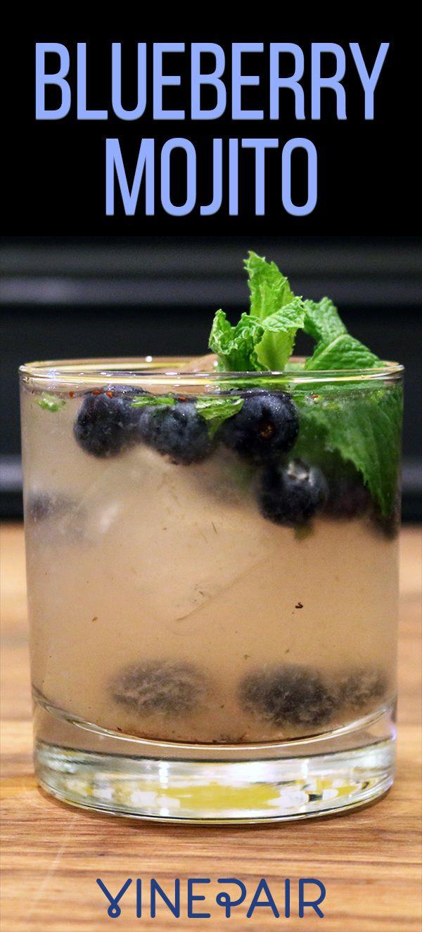 Fresh Blueberry Summer Mojito