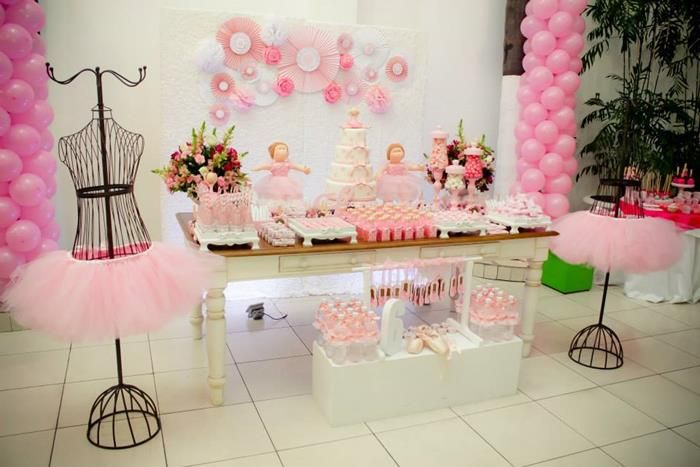Pink Ballerina Party with Lots of Really Cute Ideas via Kara's Party Ideas | KarasPartyIdeas.com #BalletParty #BallerinaParty #PartyIdeas #GirlParty