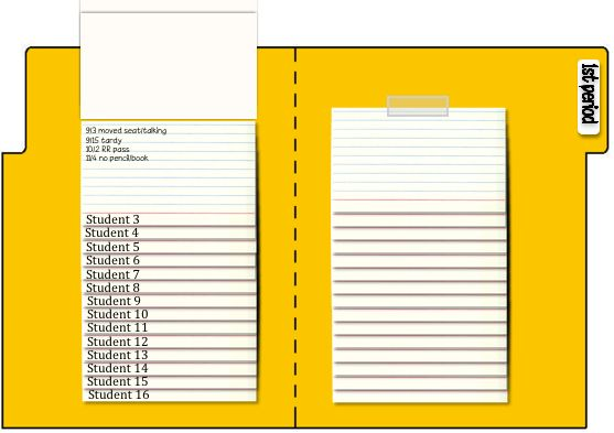 Kelsoe Math - Anecdotal notes in a flip chart made of index cards...easy to make and easy to use!
