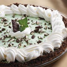 Most Grasshopper pie recipes, use a fluffy mint filling in the center of the pie. This recipe, however, uses instant chocolate pudding mixed with whipped topping, and Andes Mints for the center of a chocolate crumb crusted pie. It is then topped with a lightly flavored green mint topping. If you like Andes Mints, this …