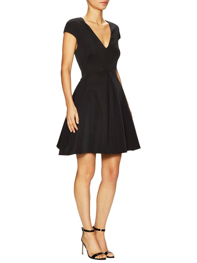 Cap Sleeve Cut Out Flared Dress from Up to 70% Off: Halston Heritage on Gilt