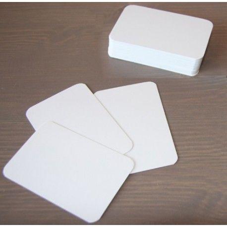 56 petites cartes blanches à personnaliser