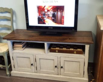 TV Stand / Long TV Console / Wood TV by HarvestTreasuresInc