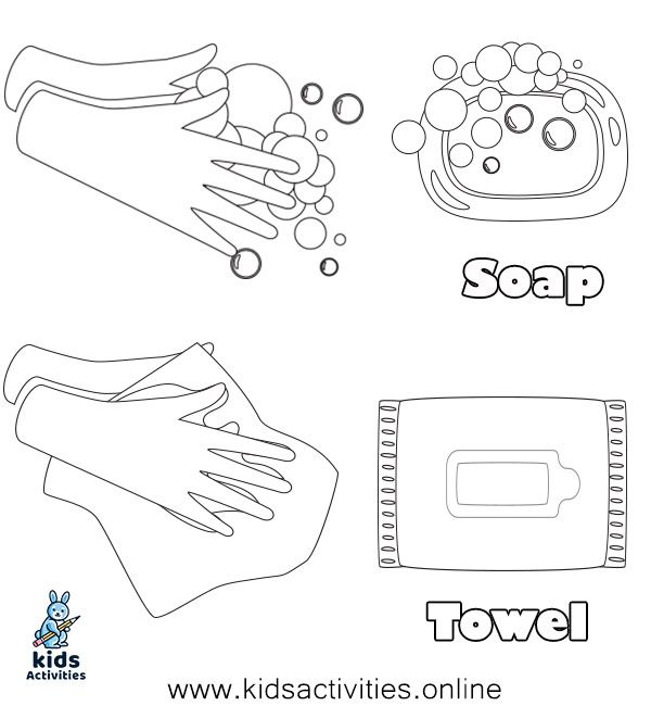 Free Hand Washing Coloring Pages For Preschoolers Kids Activities Coloring Pages Hand Washing Free Printable Coloring Sheets