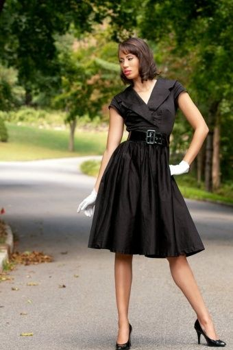 50's black dress