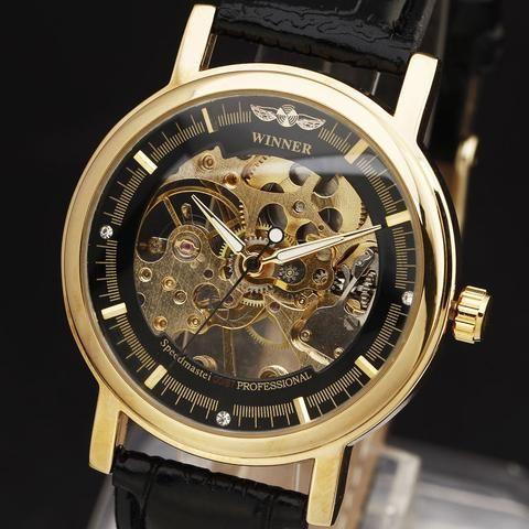 WINNER Mechanical Hand-Wind Skeleton Watch