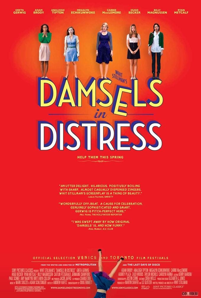 Damsels in Distress (Whit Stillman, 2012)Movie Posters, Full Movie, New Student, Whit Stillman, Funny Women, Damsel In Distressed, Art House, Watches Movie, Movie Online