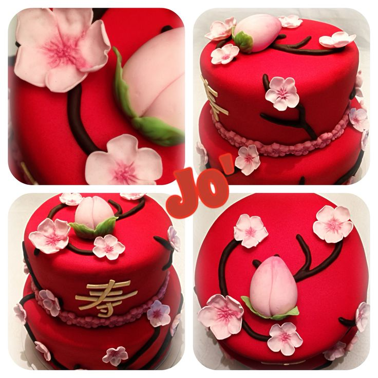 Chinese traditional cake , cake design , foundant  , longevity cake