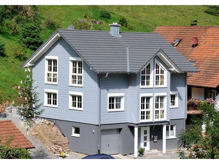 Fassadengestaltung einfamilienhaus grau orange  172 besten Haus & Fassade Bilder auf Pinterest | Satteldach ...