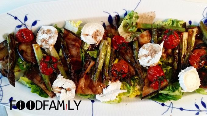 Quick grilled veggie salad with goat cheese - FoodFamily
