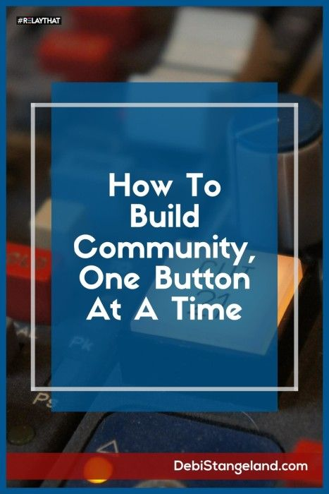 How To Build A Community, One Button At A Time ★ Your blog is the main conduit to your readers, but social media is a great way to support your writing. Use buttons to connect with your readers and build community. ★ Learn HOW To Blog ★