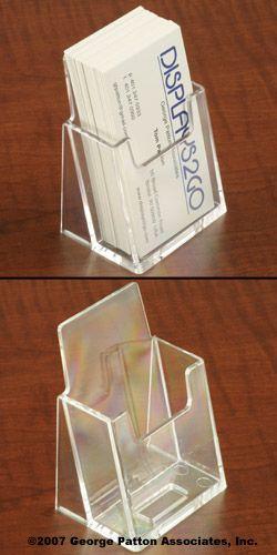 $.47 displays2go.com. Vertical business card holder for SO THERE! and any other vertical business cards.