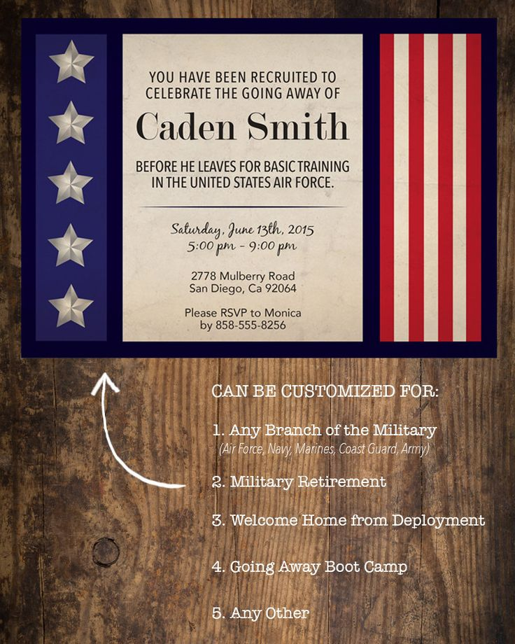 Military Going Away Party Invitation / by JustAddPaperDesigns