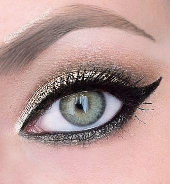 dramatic gold cat eye – Idea Gallery - Makeup Geek