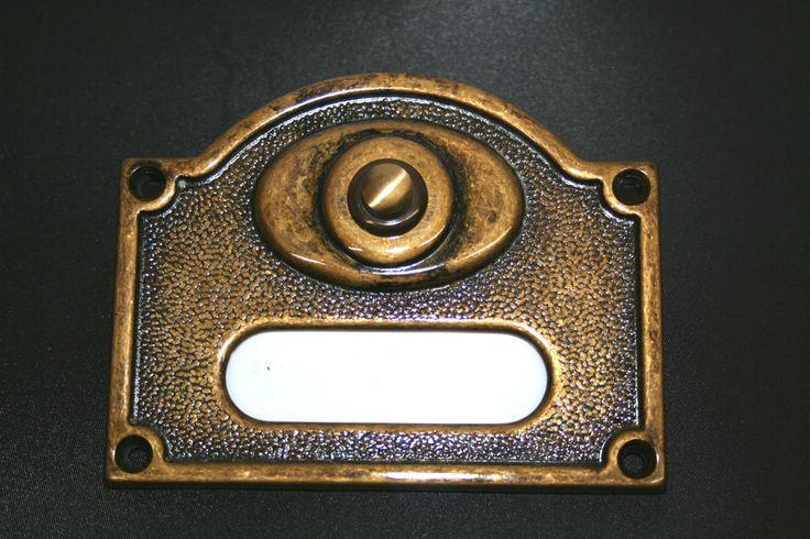 BRASS EXTERIOR ELECTRIC DOOR BELL PRESS VICTORIAN STYLE