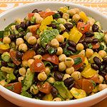 Black Bean, Chickpea and Avocado Salad recipe - Canadian Living - I seriously eat this for lunch almost every day!