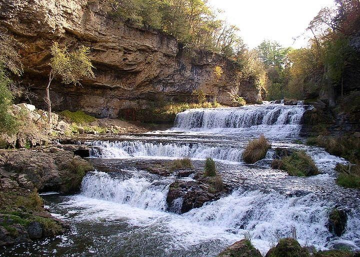 Run of waterfalls
