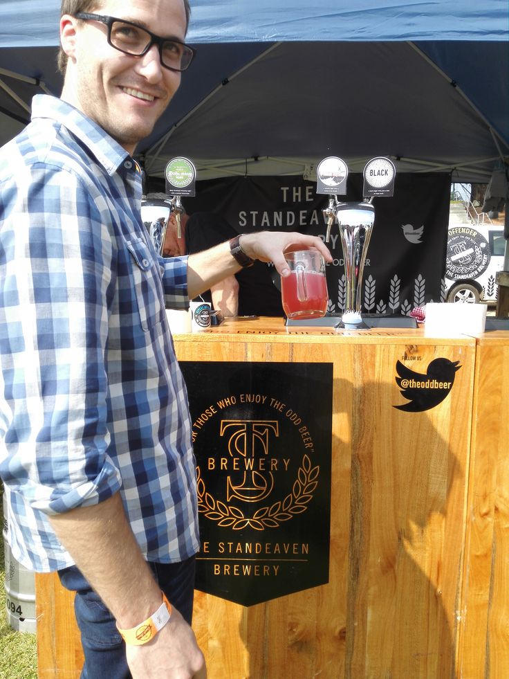 Something a bit odd here, but we like it! Thanks to the Standeaven Brewery for their Dark Ale. #CraftBeer #JoziCraftBeerFest #Joburg #Johannesburg #CraftBeerFest #Beer