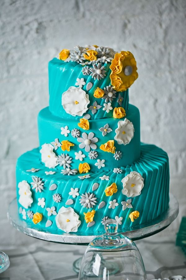 teal, yellow, and grey wedding | Teal, Yellow & Grey Wedding Inspiration