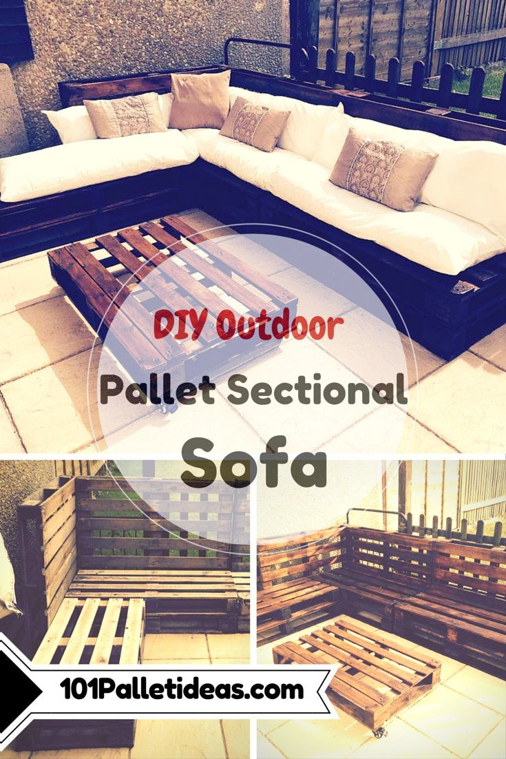 Outdoor #Pallet Sectional #Sofa   101 Pallet Ideas