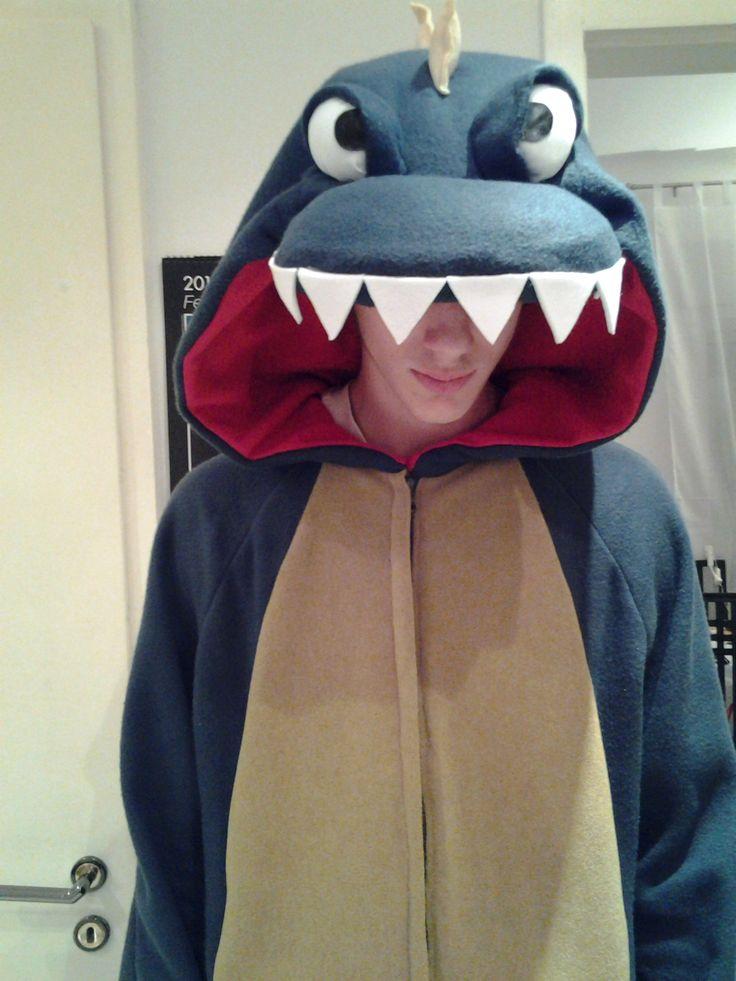 Il costume di dinosauro di Davide