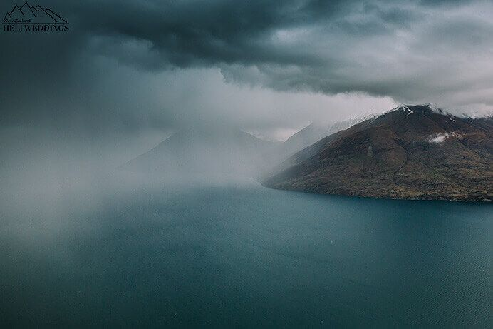 Stormy Weather coming in over the lake in Queenstown